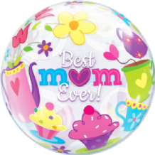 "Mothers Day Best Mum Ever Bubble Balloon (22"") 1pc"